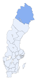 Region of Norrbotten within Sweden
