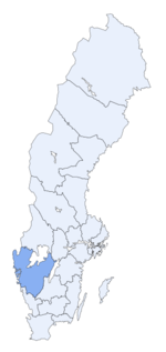 Region of Västra Götaland within Sweden