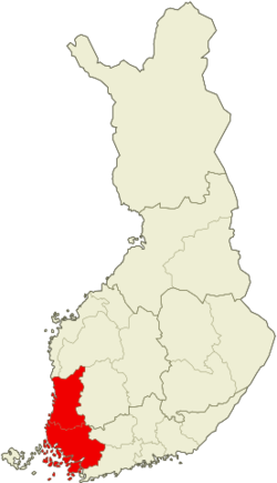 Region of Lounais-Suomi within Finland