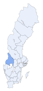 Region of Värmland within Sweden