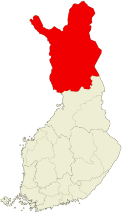 Region of Lappi within Finland