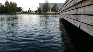 The water at the zone BeachSea in Karlstad.